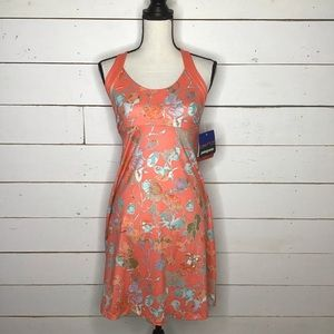 New Patagonia MorningGlory Dress Fiery Vines/Coral
